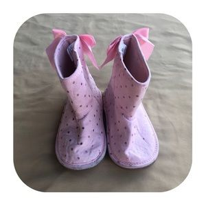 Toddler Girls Pink Boots Size 7